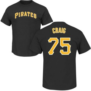 Will Craig Pittsburgh Pirates Youth Black Roster Name & Number T-Shirt -