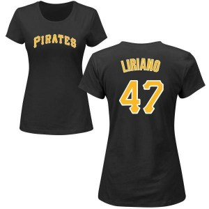 Francisco Liriano Pittsburgh Pirates Women's Black Roster Name & Number T-Shirt -