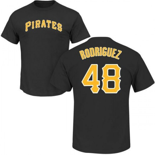 Richard Rodriguez Pittsburgh Pirates Youth Black Roster Name & Number T-Shirt -