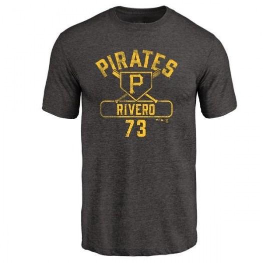 Felipe Rivero Pittsburgh Pirates Men's Black Branded Base Runner Tri-Blend T-Shirt -